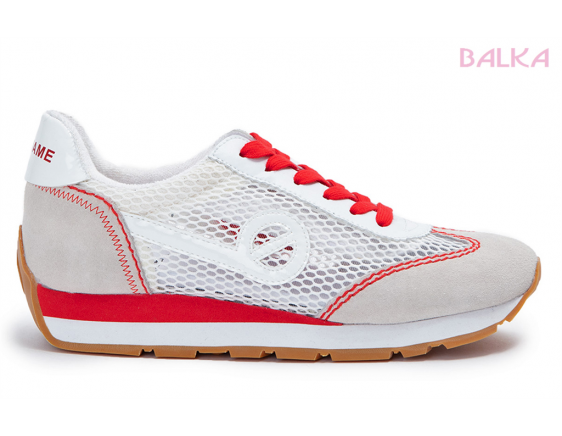 City run jogger squa blanc/rouge