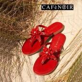 Un peu de couleur pour égayer ! A la plage ou à la ville ! ❤️💛❤️💛  #fashion #summer21 #womenshoes #muleshoes @cafenoir_official  www.balka.fr