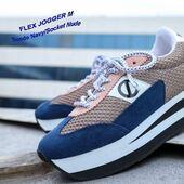 NO NAME, un tennis marine et nude pour bouger sous les rayons du soleil qui nous réchauffent 😍😍😍 @nonameshoes #shoes #womanstyle #fashion #navy #jogger